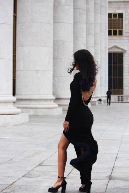 Эвика образ №3 (девушка в черном, 2 фото)